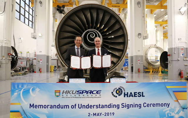 "HKU SPACE Launches ""Certificate in Aero Engine Maintenance"" Course in Collaboration with HAESL"