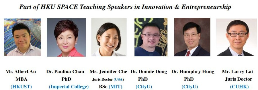 Part of HKU SPACE Teaching Speakers - Albert Au, Paulina Chan, Jennifer Che, Donnie Dong, Humphry Hung, Larry Lai